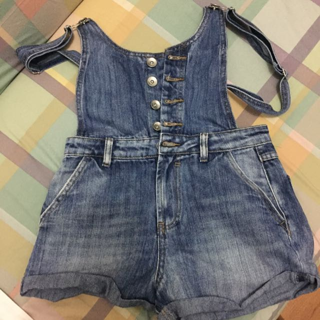 Short Denim Dungaree from 6ixty 8ight - small size