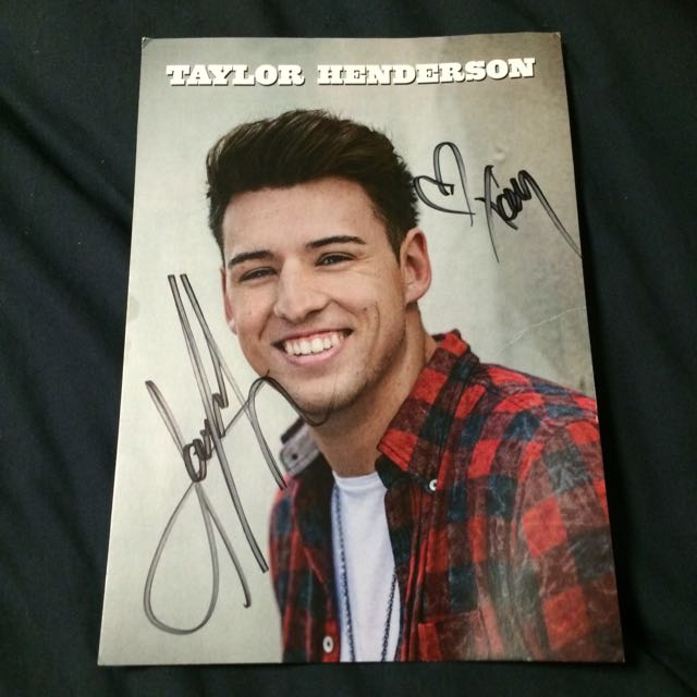 Signed Taylor Henderson Card