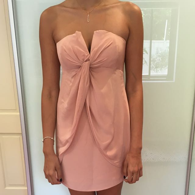 Silky Light Pink Formal Dress