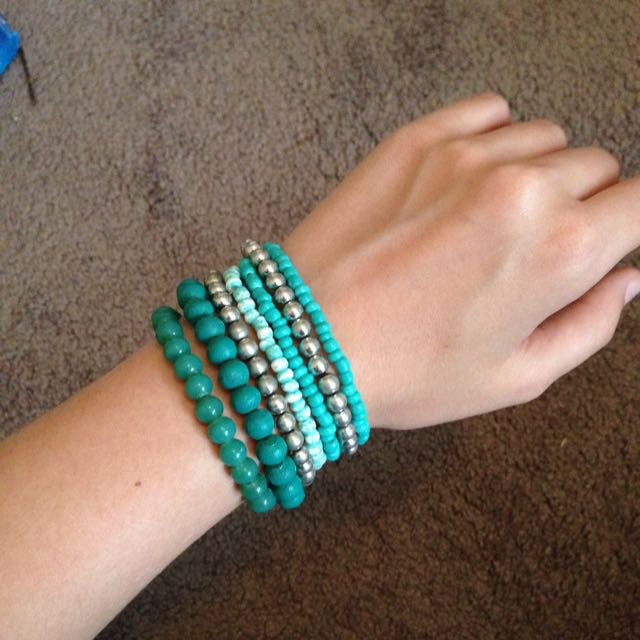 Silver And Green Bangles