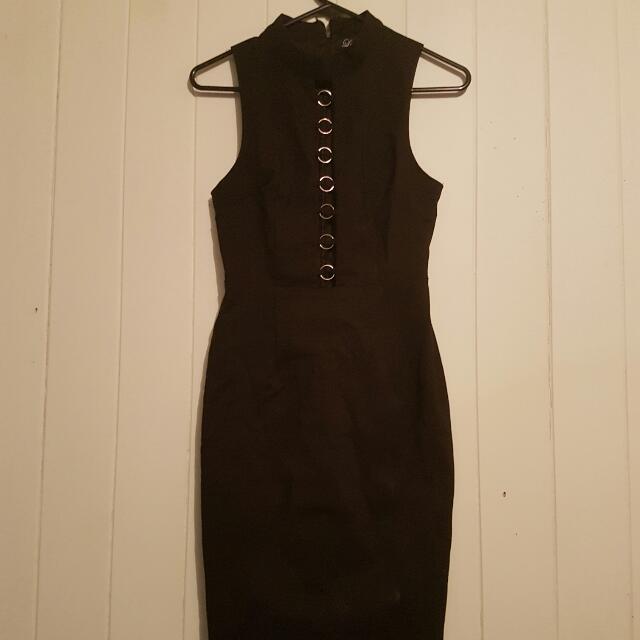 Size 8 Black Midi Dress