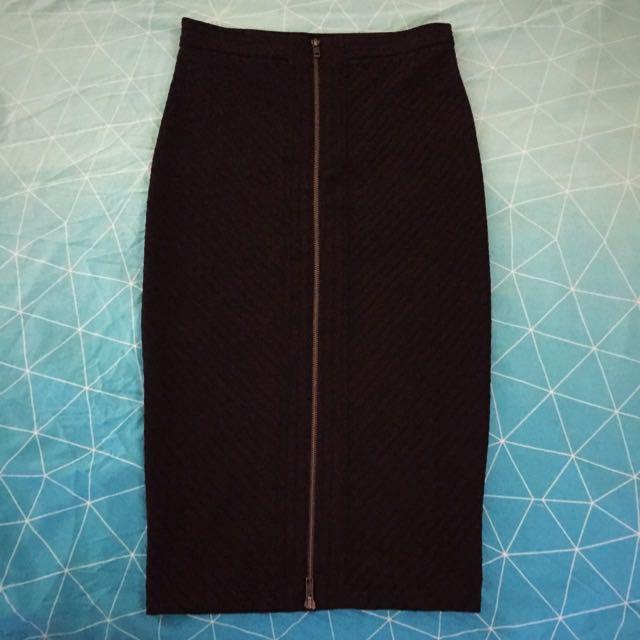 Sportsgirl Black Fitted Pencil Skirt