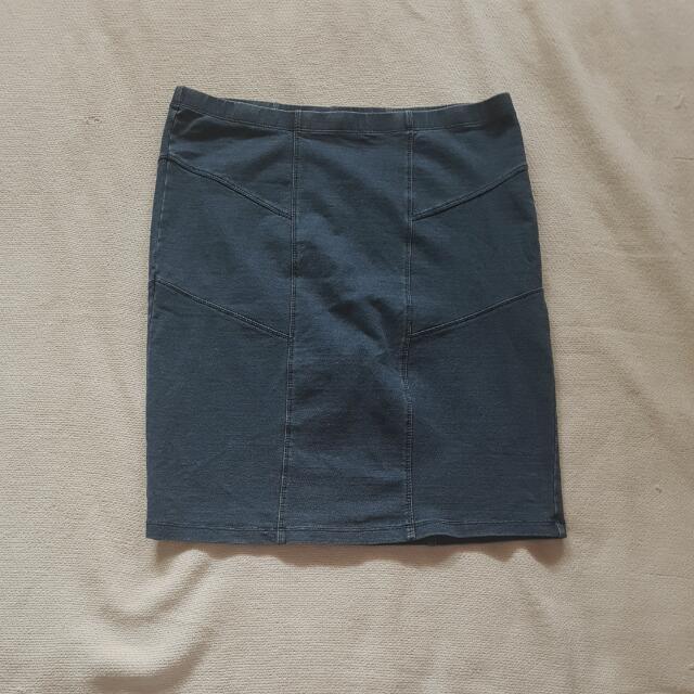 SPORTSGIRL: Stretch Denim Bodycon Skirt
