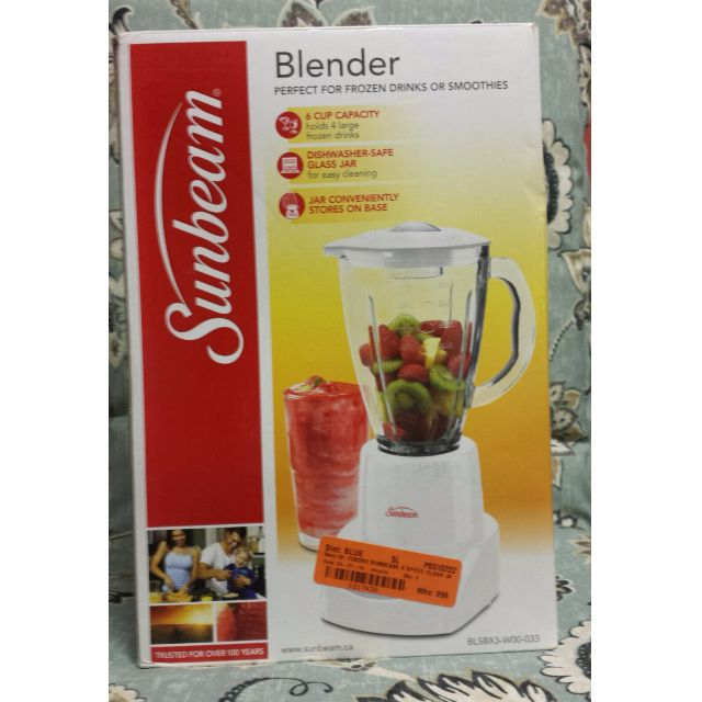 Sunbeam 6 Speed Glass Jar Blender