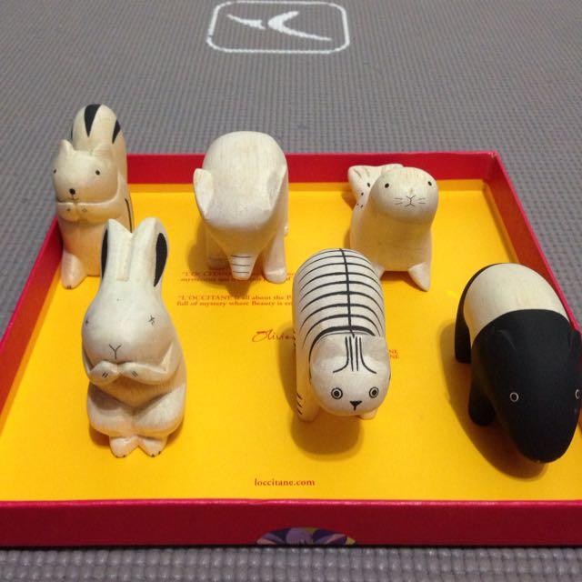 (降)Tlab日本手工木雕療癒小動物