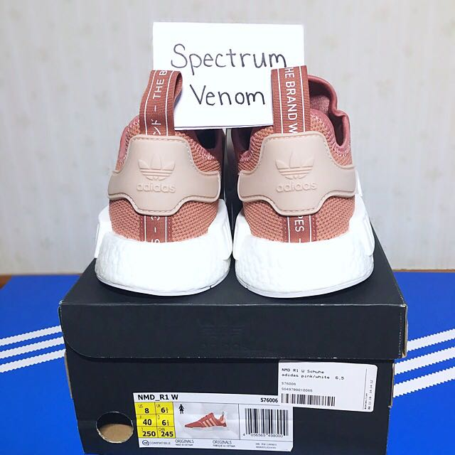 1bcc011f84d8f UK 6.5 Adidas Originals NMD Runners R1 Salmon Pink   Vapour Pink Limited  Edition Sneakers