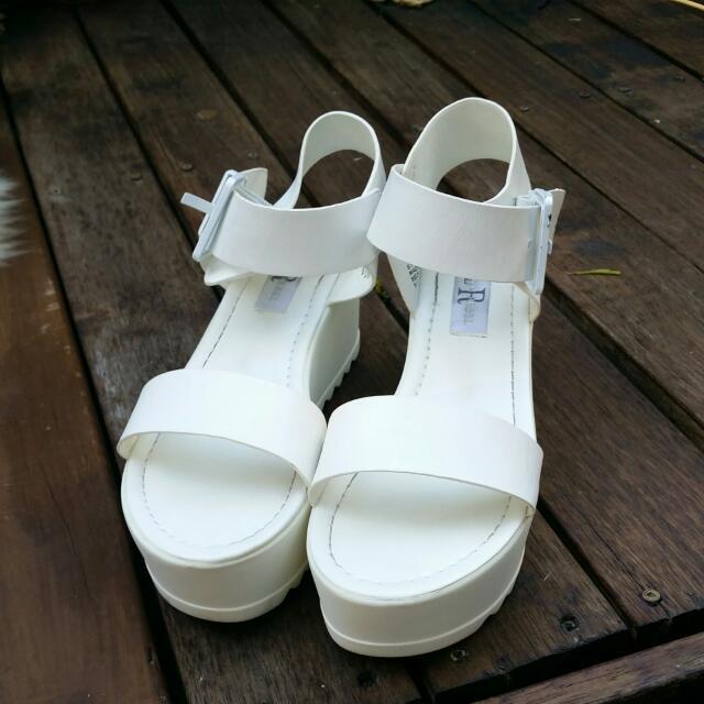 White Platform Sandal - London Rebel