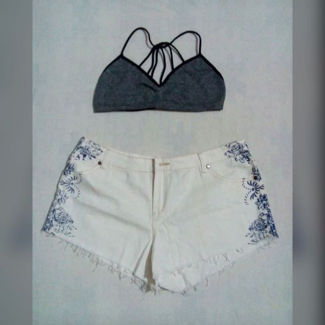 White Shorts With Side Details