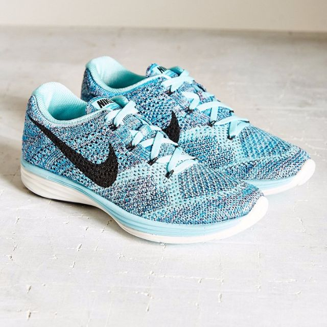 huge discount 59386 e0d08 Womens Nike Flyknit Lunar 3 (Blue, Light Blue) US9, Sports ...