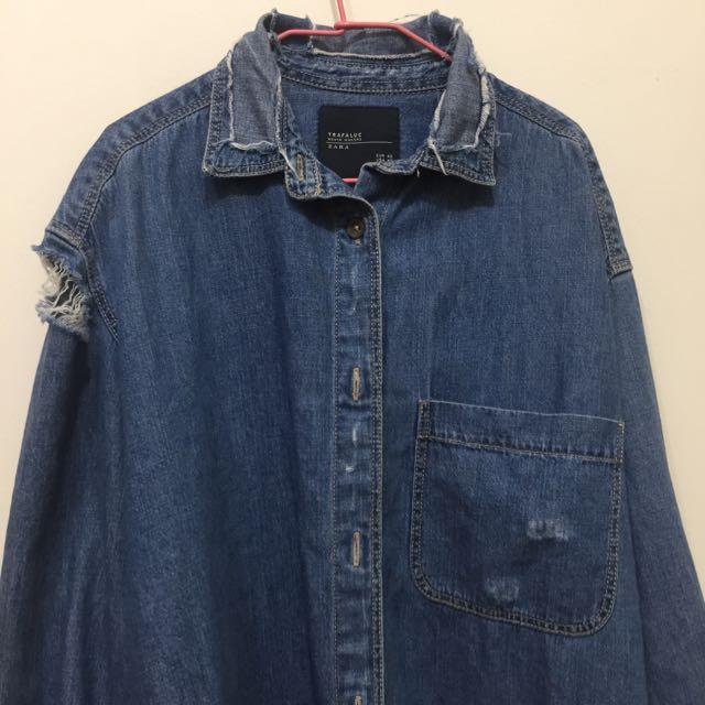 Zara 刷破襯衫、外套