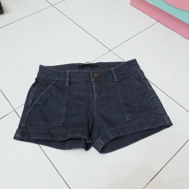 ZARA Dark Grey Denim Shorts