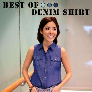 Hollyhoque Best Of Denim Shirt In Dark Blue (S)