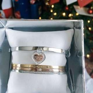 Michael Kors Tri Tone Bracelet Set