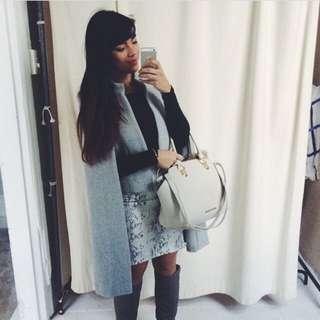 Grey Wool Sheike Coat