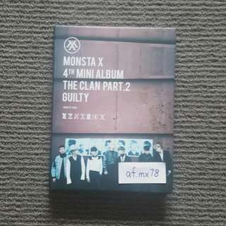 Monsta X 4th Mini Album The Clan Part 2 Guilty + Folded Poster