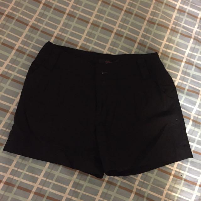 曰本製黑色100%羊毛短褲