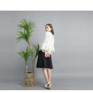 (跟asoBi同款)韓系鏤空洞洞蕾絲罩衫/上衣