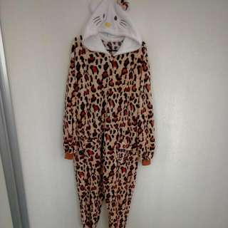 Hello Kitty Leopard Onesie