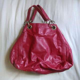 ✨Real Leather✨Hand Made✨ Fuchsia Handbag