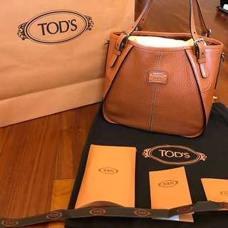Tod's 經典不敗橘色水桶包