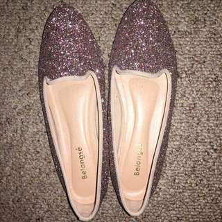 Stunning  Glitter Shoes  Perfect Condition Size 38-39 Can Fit In