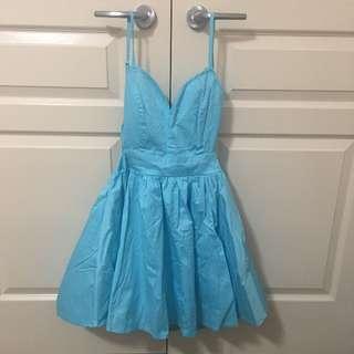 Sweet Blackless Blue Dress