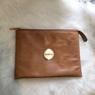 Mimco Tan iPad Cover / Clutch