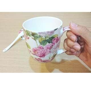 花漾典雅茶泡陶瓷杯