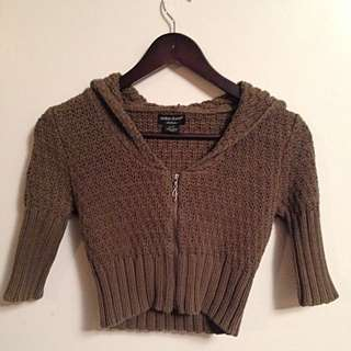 GUESS Cropped Sweater Hoodie XS