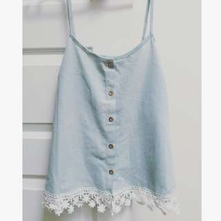Cute Summer Jean Singlet Top
