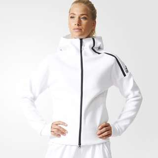 ZNE Adidas White Hoodie Size Small