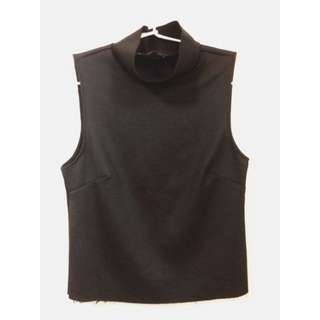 Zara Black Turtle Neck Sleeveless Top