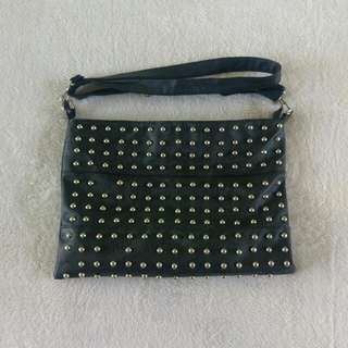 Black Stud Shoulder Bag