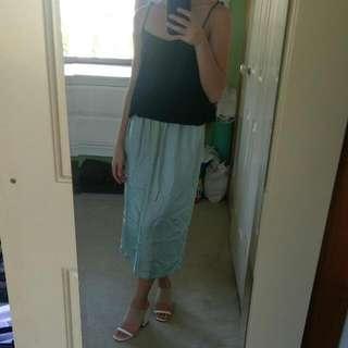 100% Silk Mid Length Skirt