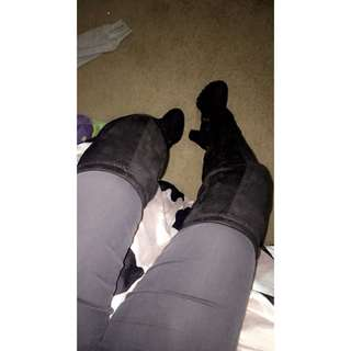 Over The Knee Velvet Boots