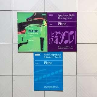 Grade 1 ABRSM Piano Books