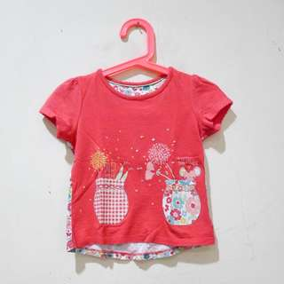 Mothercare Red Flowery Shirt