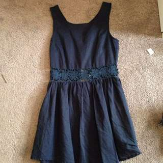 Navy Summer Dress Size M