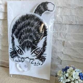 🚚 日本達洋貓 瓦奇菲爾德Dayan搖擺尾巴造型吸盤裝飾物/玻璃片裝飾/汽車裝飾物