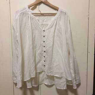 Free People White Blouse
