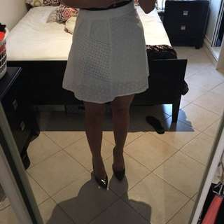 Amarso White Lace Skirt