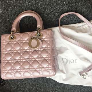 "(last sale)dior ""lady dior"" bag"