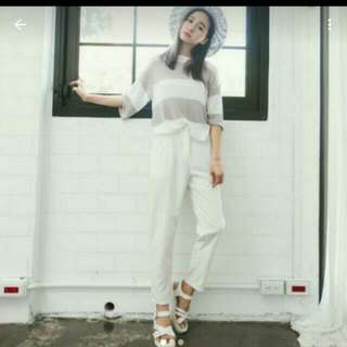 joyceshop 韓雜➰白色西裝褲