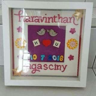 Couple Wedding Name Frame