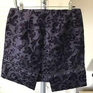 Ksubi Velvet Purple Skirt