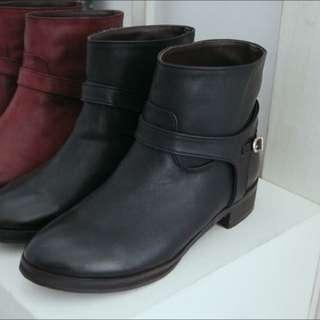 正韓 內裡絨料保暖短靴 24號