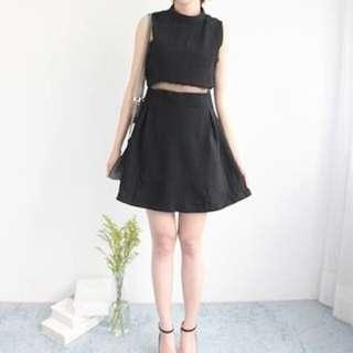 高領黑色洋裝