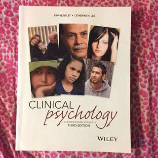 Clinical Psychology An Evidence Based Approach (3rd Ed.)