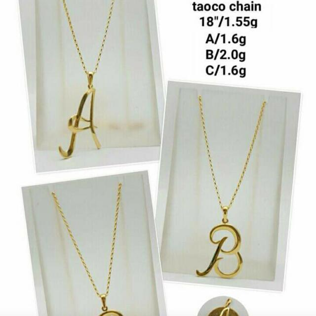 18k letter necklace