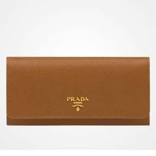 BNIB Prada Wallet In Saffiano Leather